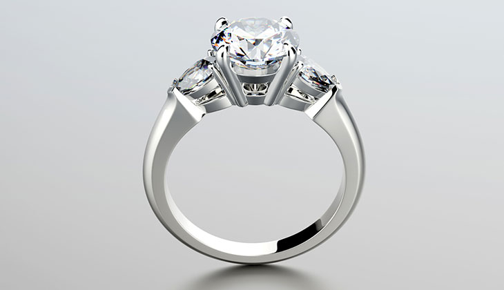 Three Stone Diamond Rings in Beaumont, Texas